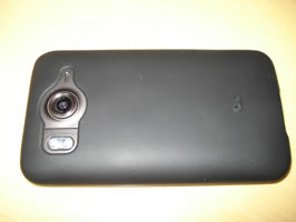 Back of phone in case. Flash used.