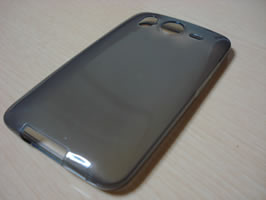 Diagonal view of back of empty case