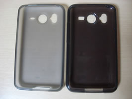 Top View showing Brighton Net TPU Case on the left and SoftBank TPU Case on the right