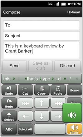 A.I.type Keyboard Plus - Cut, Copy and Paste screen