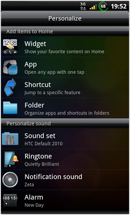 BinDroid HD GB V1.0 - Personalize - screen 2