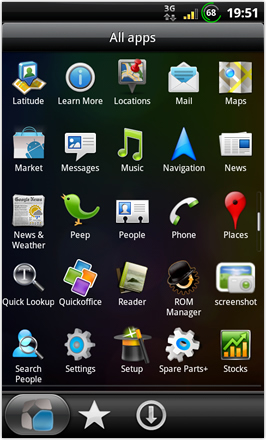 BinDroid HD GB V1.0 - All apps - screen 2