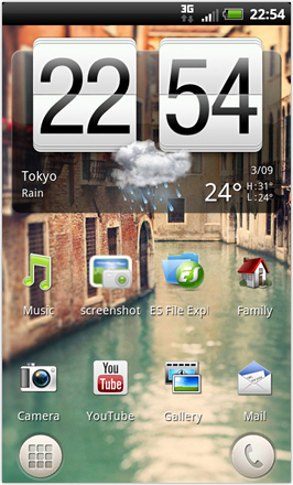 RCMix3d Bliss v1.2 - Homescreen - weather clock widget