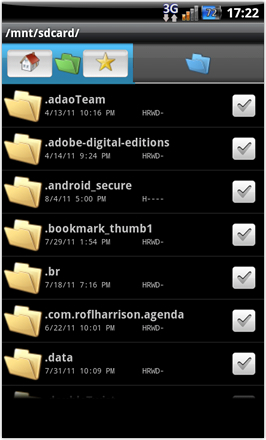 CoreDroid HD V7.1 - screenshot from HTC Desire HD - File Manager