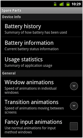 Cyanogenmod7 [Nightly] screenshot from HTC Desire HD - Spare parts