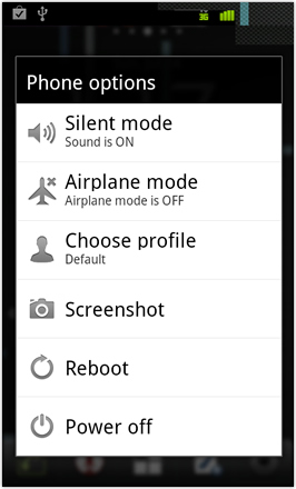 Cyanogenmod7 [Nightly] screenshot from HTC Desire HD - Phone options including Screenshot