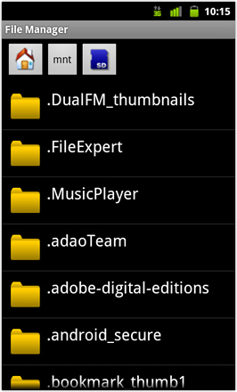 Cyanogenmod7 [Nightly] screenshot from HTC Desire HD - File Manager