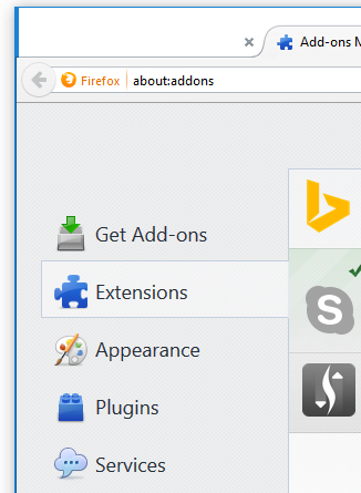 Firefox Add-ons Manager - Computer maintenance