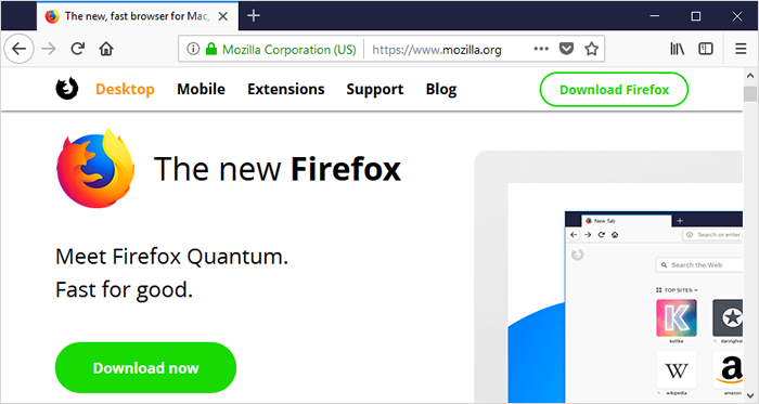 Firefox Quantum - Web browsers for Windows