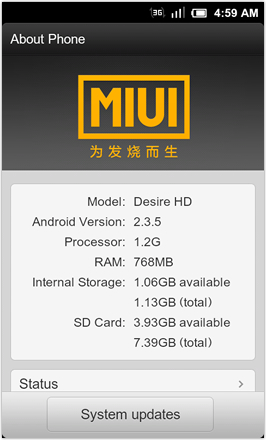 MIUI 1.8.26 v.2: Freshly Squeezed Edition™ - About Phone