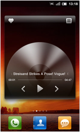MIUI 1.8.26 v.2: Freshly Squeezed Edition™ - Music Player widget