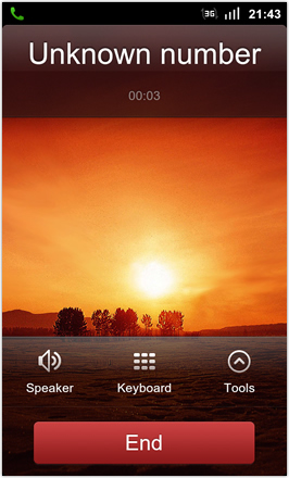 MIUI 1.8.26 v.2: Freshly Squeezed Edition™ - End call