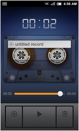 MIUI 1.8.26 v.2: Freshly Squeezed Edition™ - Audio Recorder