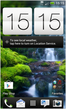 ICESense V [Beta 2.0] - Home screen with different HTC wallpaper