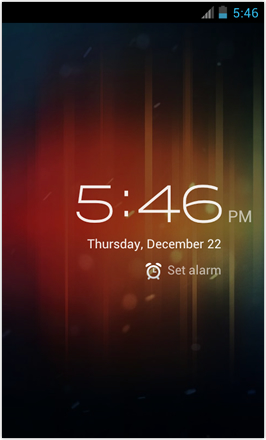 [BETA V] Ice Cream Sandwich for Desire HD - screenshot from HTC Desire HD - Clock
