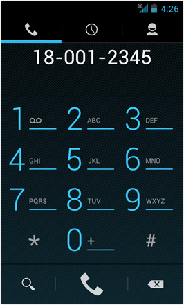 [BETA V] Ice Cream Sandwich for Desire HD - screenshot from HTC Desire HD - Dial pad