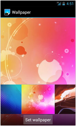 [BETA V] Ice Cream Sandwich for Desire HD - screenshot from HTC Desire HD - Wallpaper 4