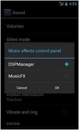 [BETA V] Ice Cream Sandwich for Desire HD - screenshot from HTC Desire HD - Music effects control panel