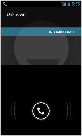 [BETA V] Ice Cream Sandwich for Desire HD - screenshot from HTC Desire HD - Incoming call
