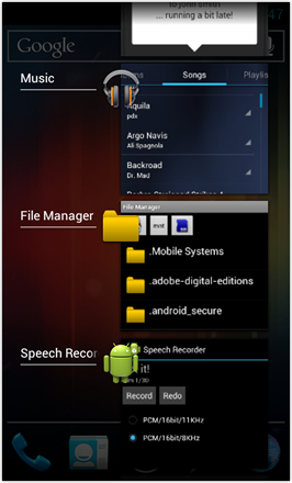 [BETA V] Ice Cream Sandwich for Desire HD - screenshot from HTC Desire HD - Task Manager