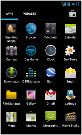 [BETA V] Ice Cream Sandwich for Desire HD - screenshot from HTC Desire HD - App drawer 1