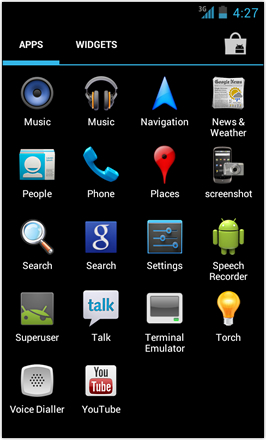 [BETA V] Ice Cream Sandwich for Desire HD - screenshot from HTC Desire HD - App drawer 2