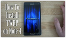 thumbnail to YouTube video - Joshdew - How To Flash TWRP Custom Recovery on your Galaxy Note 4!