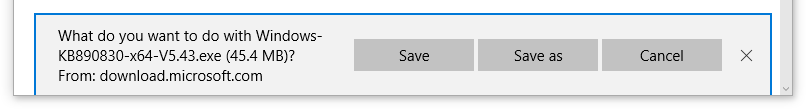 Image showing Save, Save as or Cancel