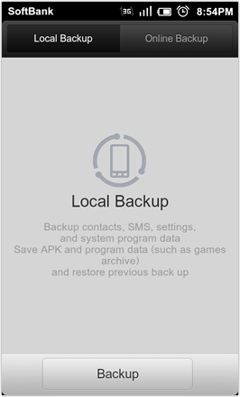 DHD NDT MIUI GINGER V5.0 - Backup options