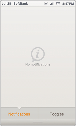 DHD NDT MIUI GINGER V5.0 - Notification screen