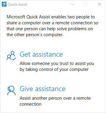 Quick Assist - What's new in Windows 10?