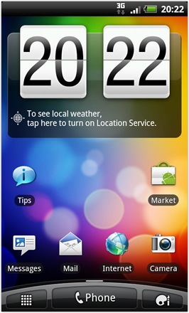 RCMix HD screenshot from HTC Desire HD - Homescreen