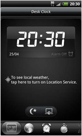 RCMix HD screenshot from HTC Desire HD - Desk Clock