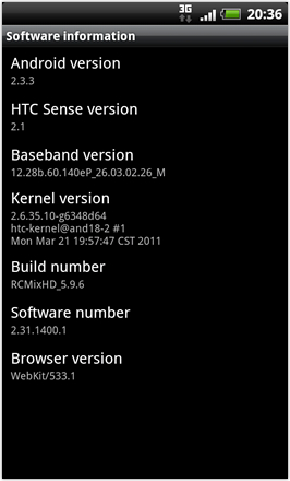 RCMix HD screenshot from HTC Desire HD - Desktops