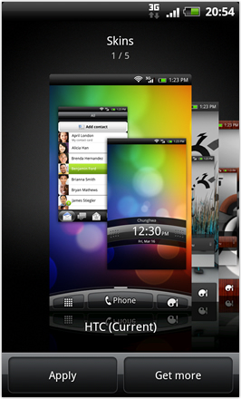 RCMix HD screenshot from HTC Desire HD - Skins