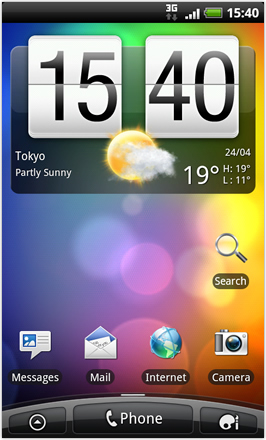 Android Revolution HD 3.6 - Home Screen (Default)