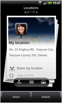 Android Revolution HD 3.6 - Locations