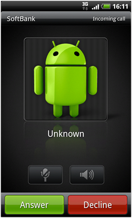 Android Revolution HD 3.6 - Incoming Call