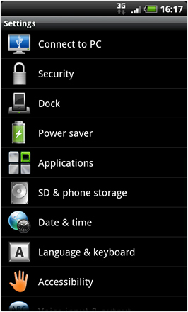 Android Revolution HD 3.6 - Settings