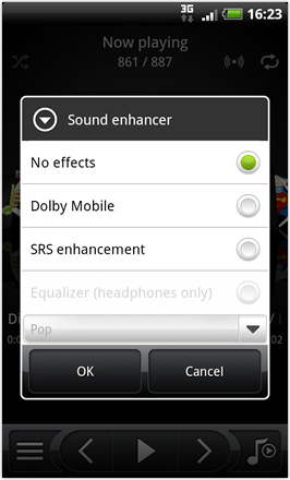 Android Revolution HD 3.6 - Dolby and SRS Audio options