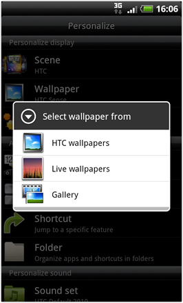 Android Revolution HD 3.6 - Select Wallpaper