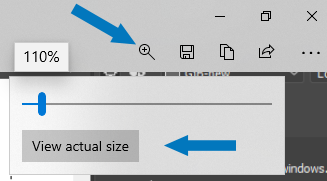 Resize image view in Snip & Sketch