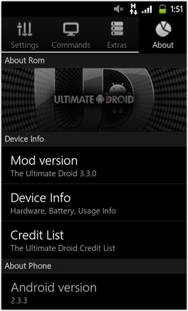 MDJ's Ultimate Droid HD - About Rom