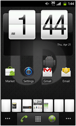 MDJ's Ultimate Droid HD - Home Screen - Double Tap