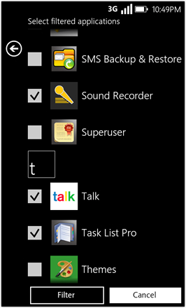 WP7.0.3 Ace Edition -  Screenshot from HTC Desire HD - App drawer 2