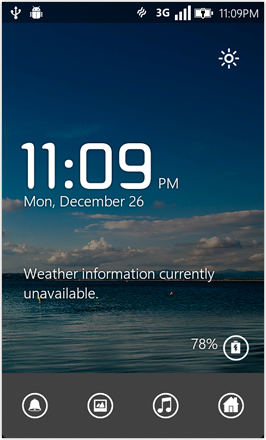 WP7.0.3 Ace Edition -  Screenshot from HTC Desire HD - Clock