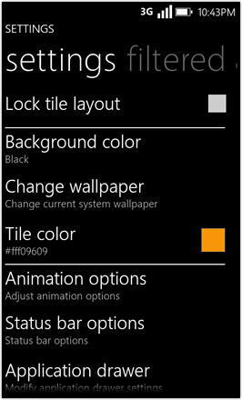 WP7.0.3 Ace Edition -  Screenshot from HTC Desire HD -