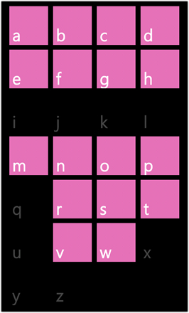 WP7.0.3 Ace Edition -  Screenshot from HTC Desire HD - Search contacts by alphabet pink