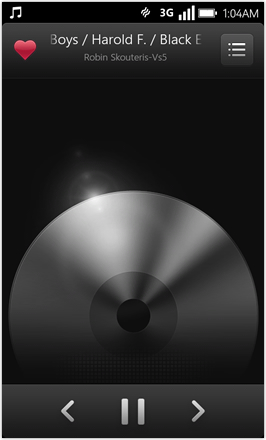 WP7.0.3 Ace Edition -  Screenshot from HTC Desire HD - Music player