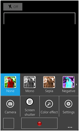 WP7.0.3 Ace Edition -  Screenshot from HTC Desire HD - Video camera